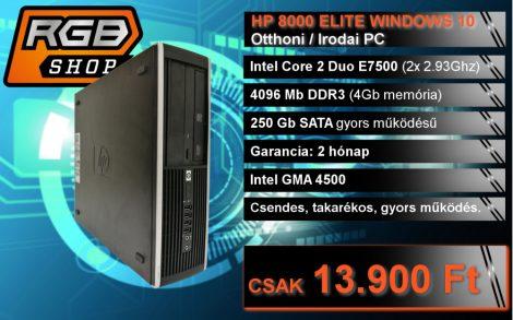 HP 8000 ELITE WINDOWS 10 Otthoni / Irodai PC