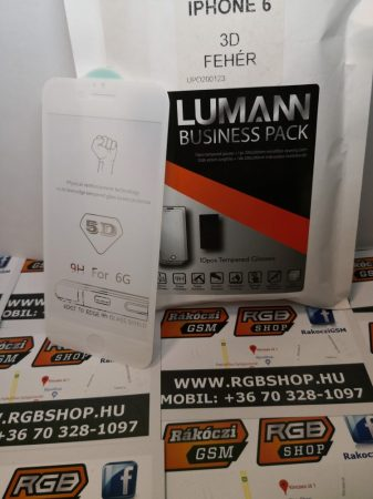 Iphone 6/6S 3D üvegfólia, Fehér