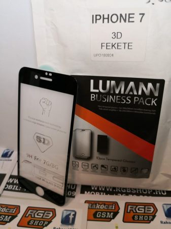 Iphone 7/8 3D üvegfólia, Fekete