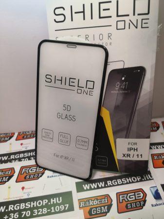 Iphone 11/XR 3D üvegfólia, Fekete