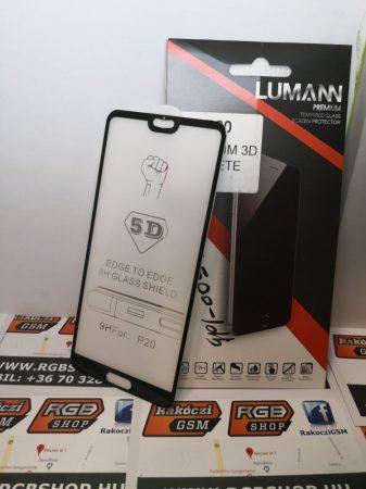 Huawei P20 3D üvegfólia, Fekete