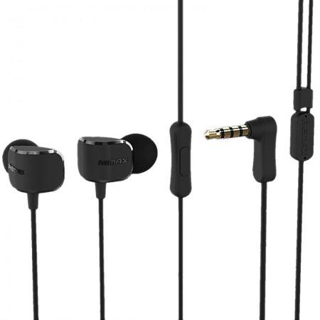 Remax RM-502 vezetékes sztereo headset fekete (3,5mm jack csatlakozós)