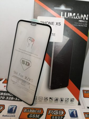 Iphone X/XS Fekete/11 Pro 3D üvegfólia, Fekete