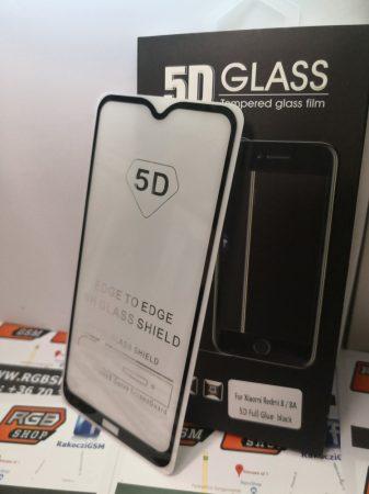 Xiaomi Redmi 8/8A 3D üvegfólia, Fekete